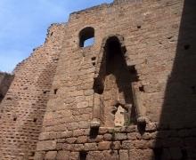Les ruines du Spesbourg le chauffage