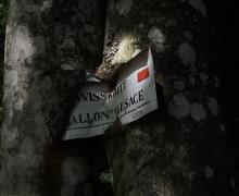 Les panneaux durables du Club Vosgien...