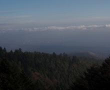 Colmar et la plaine dans la brume