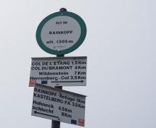 Croisée des chemins au Rainkopf