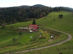 La ferme auberge du Kohlschlag vuedu Col Amic